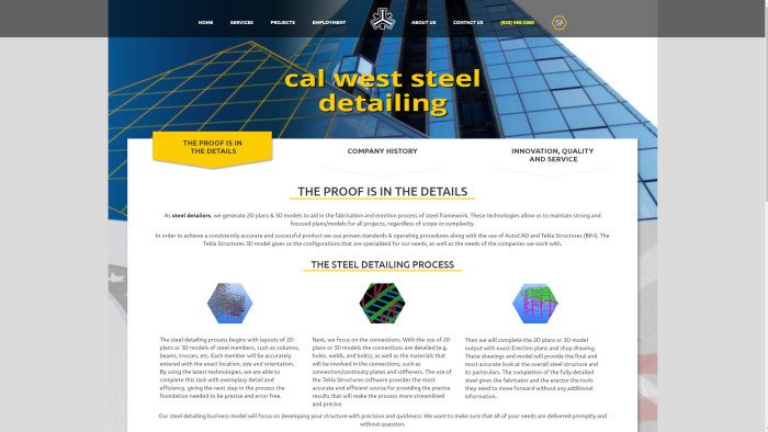 cal-west-steel-detailing-homepage
