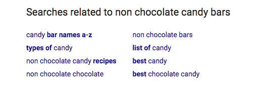 Non Chocolate Candy Bar Related Search