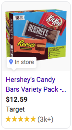 Hershey's Chocolate Bar Google Ad